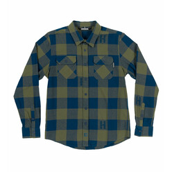 Hoonigan H-Icon Flannel - Navy & Olive