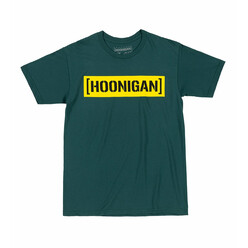 Hoonigan Censor Bar T-Shirt - Evergreen & Yellow