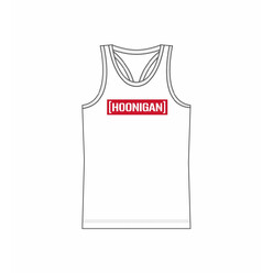 Hoonigan Censor Bar Women's Tank - White & Red