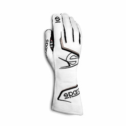 Sparco Arrow Gloves, White & Grey (FIA)