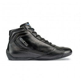 Sparco Slalom RB-3 Classic Shoes - Black Leather (FIA)