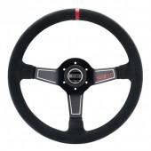 Sparco L575 Steering Wheel (63 mm Dish), Black Suede, Black Spokes