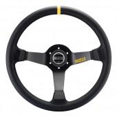 Sparco R325 Steering Wheel (95 mm Dish), Black Leather, Black Spokes