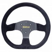 Sparco R353 Steering Wheel (36 mm Dish), Black Suede, Black Spokes