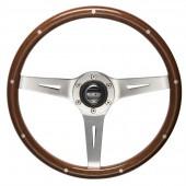 Sparco Sanremo Steering Wheel (40 mm Dish), Wood, Aluminium Spokes