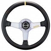 Sparco L550 Steering Wheel (63 mm Dish), Black Leather, Aluminium Spokes