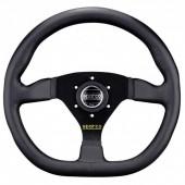 Sparco L360 Flat Steering Wheel, Black Leather, Black Spokes