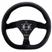 Sparco L360 Flat Steering Wheel, Black Suede, Black Spokes
