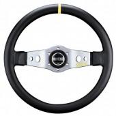 Sparco L555 Steering Wheel (90 mm Dish), Black Leather, Aluminium Spokes