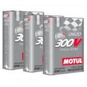 Pack Promo Huile Motul 300V High RPM 0W20 (3 x 2L)