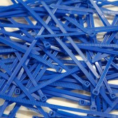 Cable Ties, Pack of 100 - Royal Blue
