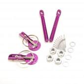 Aluminium Bonnet Pins - Purple