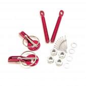 Aluminium Bonnet Pins - Red