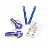 Aluminium Bonnet Pins - Blue