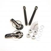 Aluminium Bonnet Pins - Black