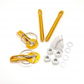 Aluminium Bonnet Pins - Gold