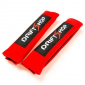 """DriftShop Harness Pads 2"""" - Red (per pair)"""