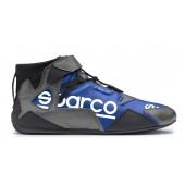 Sparco Apex RB-7 Shoes - Black & Blue (FIA)