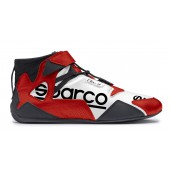 Sparco Apex RB-7 Shoes - Red & White (FIA)