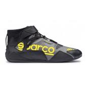 Sparco Apex RB-7 Shoes - Black & Yellow (FIA)