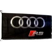 Drapeau Audi RS Noir (150 x 75 cm)
