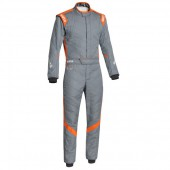 Sparco Victory RS-7 FIA Racing Suit - Grey & Orange