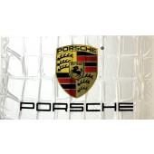 Porsche Flag - White (90x155cm)
