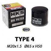 HKS Type 4 Sports Oil Filter | M20x1.5 (Kei Cars Nissan, Mitsubishi...)