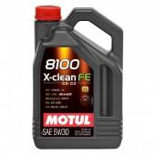 5L Huile Motul 8100 X-Clean FE 5W30 (PSA, VW, Fiat, GM, Mercedes)