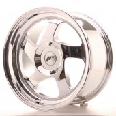 "Japan Racing JR-15 16x8"" (4 & 5 trous - sur mesure) ET25, Chrome / Titane"