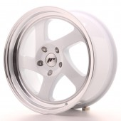 "Japan Racing JR-15 17x8"" (4 & 5 hole custom PCD) ET35, White"