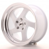 "Japan Racing JR-15 17x9"" (4 & 5 hole custom PCD) ET25, White"