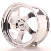 "Japan Racing JR-15 18x9.5"" (4 & 5 trous - sur mesure) ET35, Chrome / Titane"