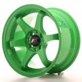 "Japan Racing JR-3 15x8"" 4x100/108 ET25, Green"