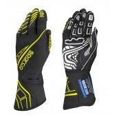 Sparco Lap RG-5 Gloves - Black & Yellow (FIA)