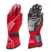 Sparco Lap RG-5 Gloves - Red (FIA)