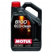5L Huile Motul 8100 Eco Clean C2 0W30 (Ford, Fiat & FAP Honda, Toyota, Subaru, Suzuki)