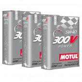 Pack Promo Huile Motul 300V Power 5W40 (3 x 2L)