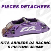 Spare Parts for D2 Racing Rear Brake Kits - 6 Pistons 380 mm