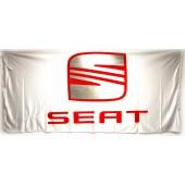 Drapeau Seat Blanc (150 x 75 cm)