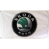 Skoda Flag - White (150 x 75 cm)