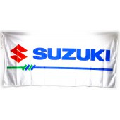 Drapeau Suzuki Blanc (150 x 75 cm)