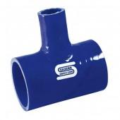 Té de Dérivation Silicone 38 à 76 mm - Bleu