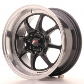 "Japan Racing TF-2 15x7.5"" 4x100/114.3 ET30, Gloss Black"