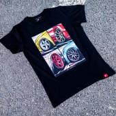 Japan Racing Mix Men's T-Shirt - Black