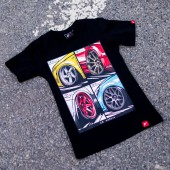 Japan Racing Mix Women's T-Shirt - Black