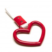 "Heart ""Tsurikawa"" Handle - Red"