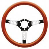 Mugello Steering Wheel, Wood, Silver Spokes