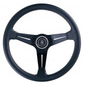 Nardi Deep Corn Steering Wheel - Perf. Leather with Black Spokes & Red Stitching - 350mm