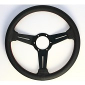 Nardi Classic Steering Wheel - Perf. Leather with Black Spokes & Red Stitching - 330mm